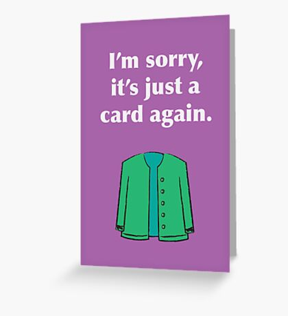Card Again Greeting Card
