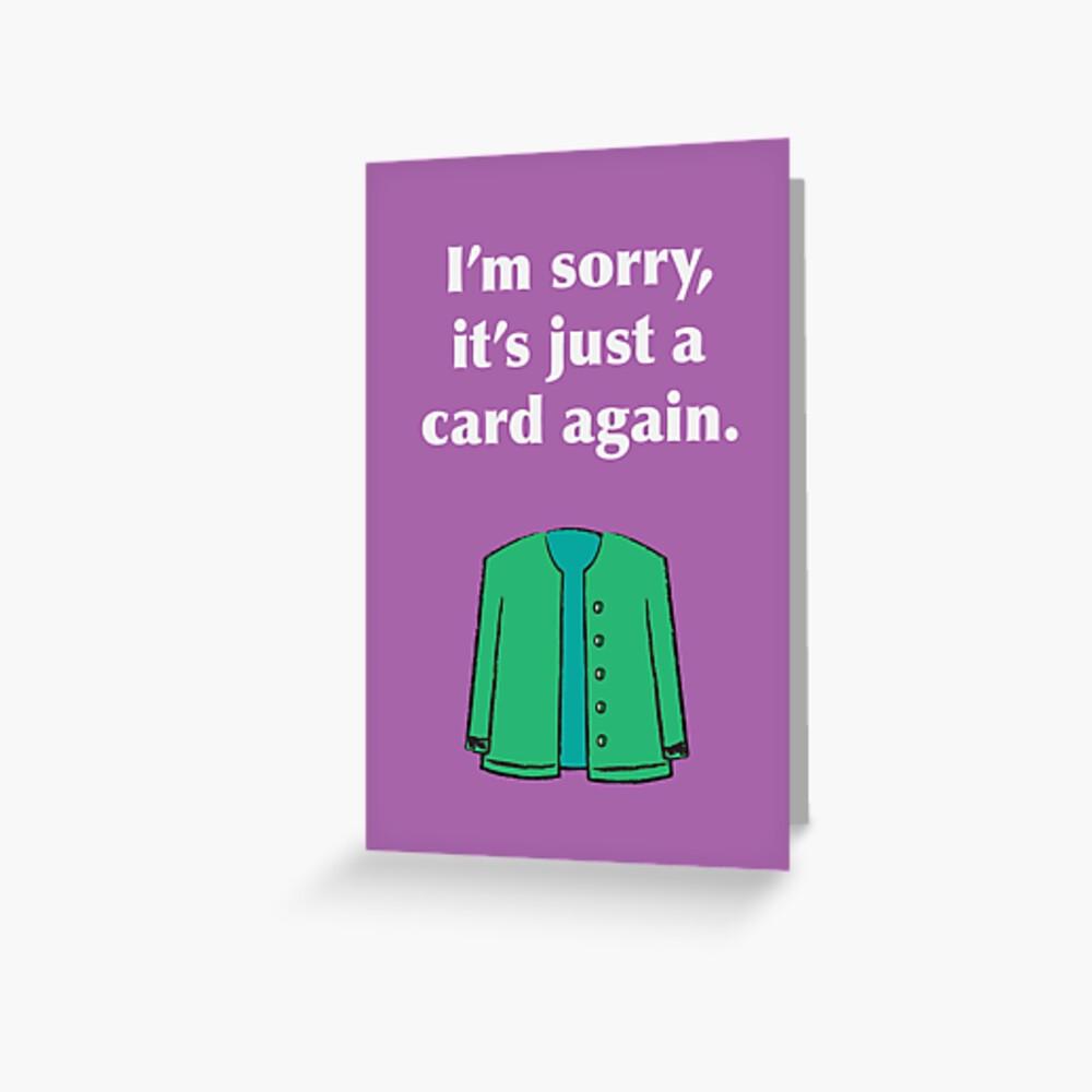 Card Again Greeting Card
