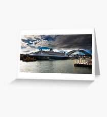 Sydney Harbour with Queen Mary 2 Greeting Card