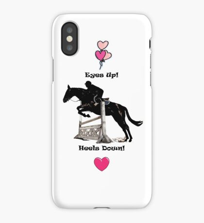 Eyes Up! Heels Down! Horse iPhone & iPod Cases iPhone Case