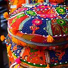 Colourful cushions - Jaipur, India by fionapine