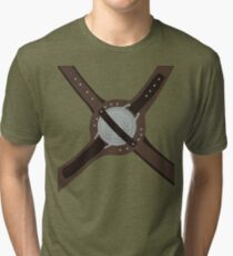 DragonBorn Studded Iron Cuirass Tri-blend T-Shirt