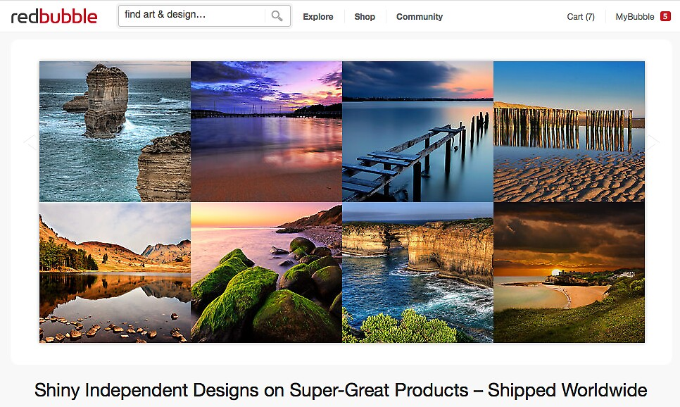 Bays and Beaches - 12 March 2012 by The RedBubble Homepage