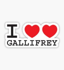 I Heart Heart Gallifrey Sticker