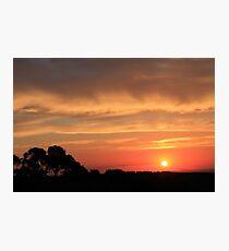 Sunset on Mount Canobolas Photographic Print