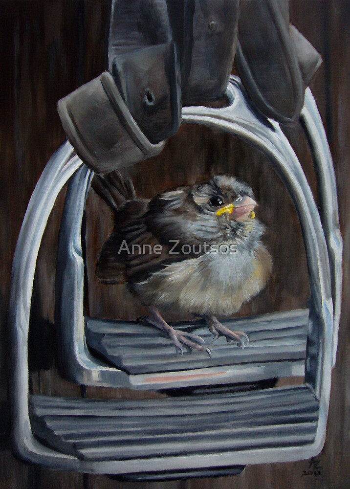 Ticket To Ride - Little Bird Ready to Travel by Anne Zoutsos