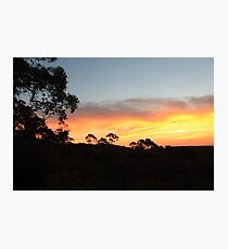Mount Canobolas Sunset Photographic Print