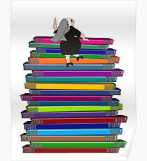 "Whimsical Nun Art ""Nun and Books"" Poster"