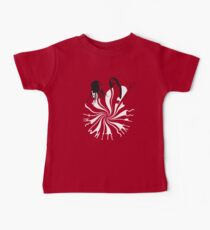 Candy Cane Children (on red) Baby Tee