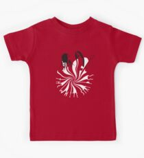 Candy Cane Children (on red) Kids Tee