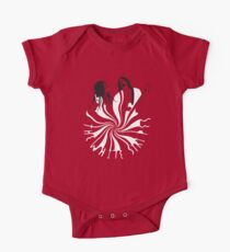 Candy Cane Children (on red) One Piece - Short Sleeve