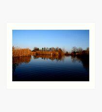 Lake riples Art Print