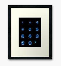 Brain flutters Framed Print