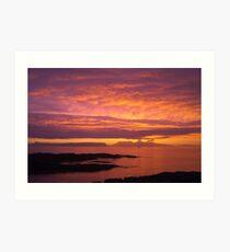 Sunset, Rum, Inner Hebrides, Scotland Art Print