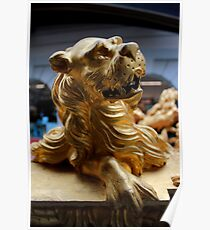 The Royal Barge - Lion Figures Poster