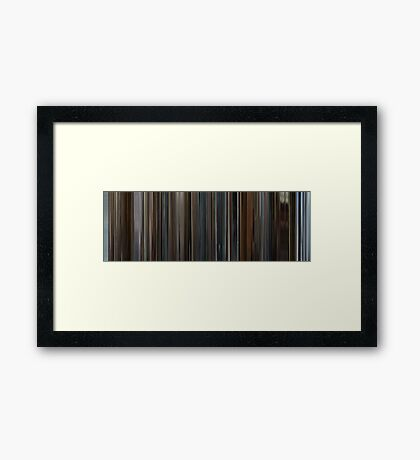 Moviebarcode: Le conseguenze dell'amore / The Consequences of Love (2004) Framed Print