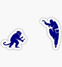 Monkey Kung Fu with Knife Sticker