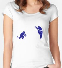 Monkey Kung Fu with Knife Women's Fitted Scoop T-Shirt