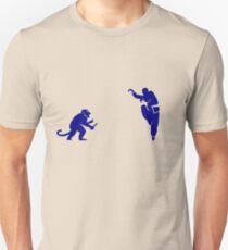 Monkey Kung Fu with Knife Unisex T-Shirt