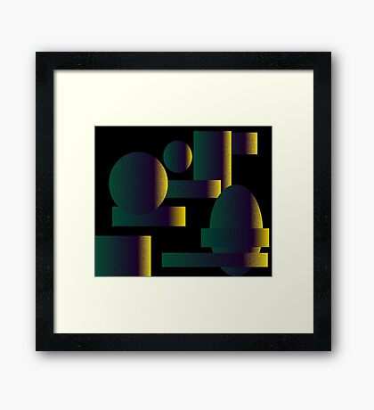 Night Figures Framed Print