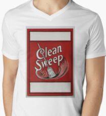 Clean Sweep Broom Label Men's V-Neck T-Shirt