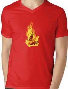 The Self-Immolation of Thích Quảng Ðức Mens V-Neck T-Shirt