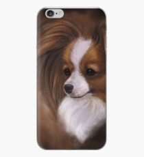 Papillon Red Sable and White iPhone Case