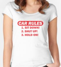 Car rules Women's Fitted Scoop T-Shirt