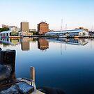 Early Morning at Hobart Wharves, Tasmania by Chris Cobern