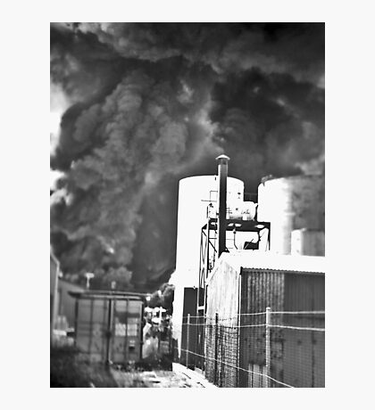Fire at Wingfield Photographic Print