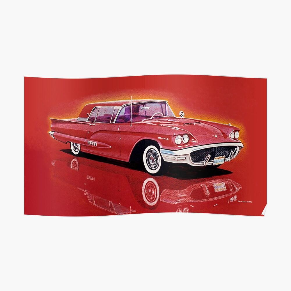 1958 Ford Thunderbird Poster