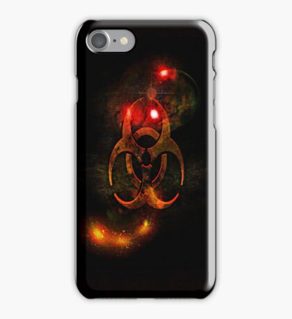 Biohazard Symbol on black - iPhone and iPod skin (smaller design) iPhone Case/Skin