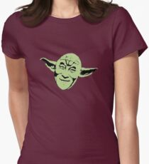 Dalai Yoda Womens Fitted T-Shirt