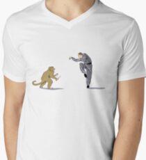 Monkey Fu with Knife (detail) Men's V-Neck T-Shirt