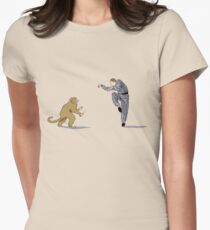 Monkey Fu with Knife (detail) Women's Fitted T-Shirt
