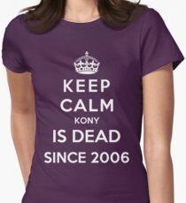 Keep Calm KONY Is Dead Since 2006 Women's Fitted T-Shirt