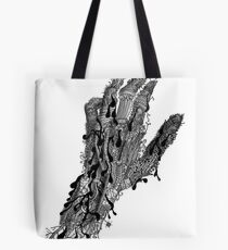 bionic forest hand Tote Bag
