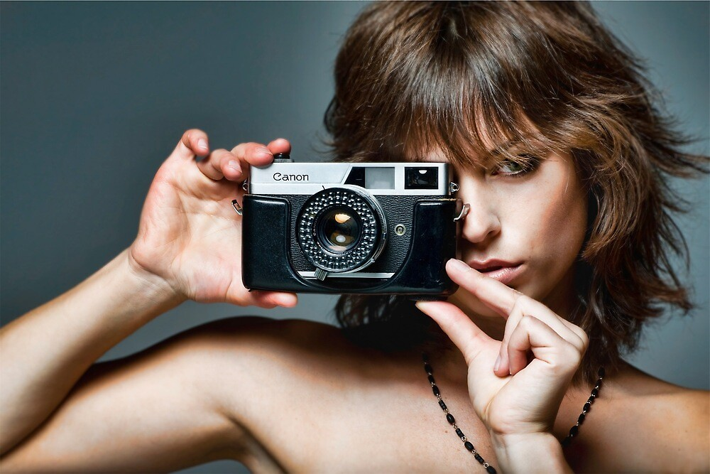 Old Camera, Young Model by kcnickerson