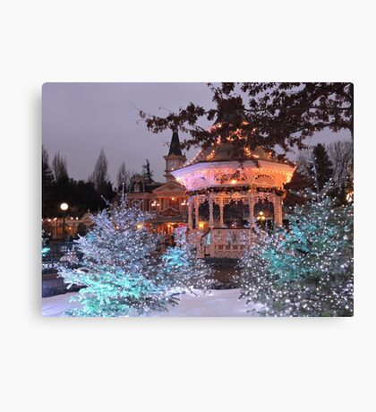 Christmas Bandstand Canvas Print