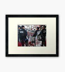 Protests in Paris Fragmented Framed Print