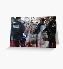 Protests in Paris Fragmented Greeting Card