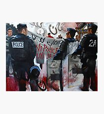 Protests in Paris Fragmented Photographic Print