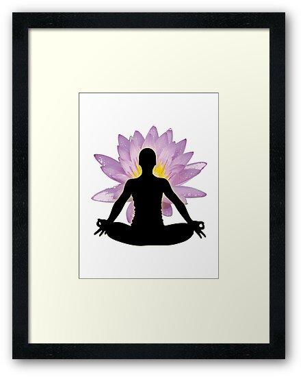 Yoga Lotus Pose - Meditation  by designerjenb