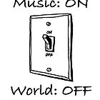 Music On World Off by James Lewis
