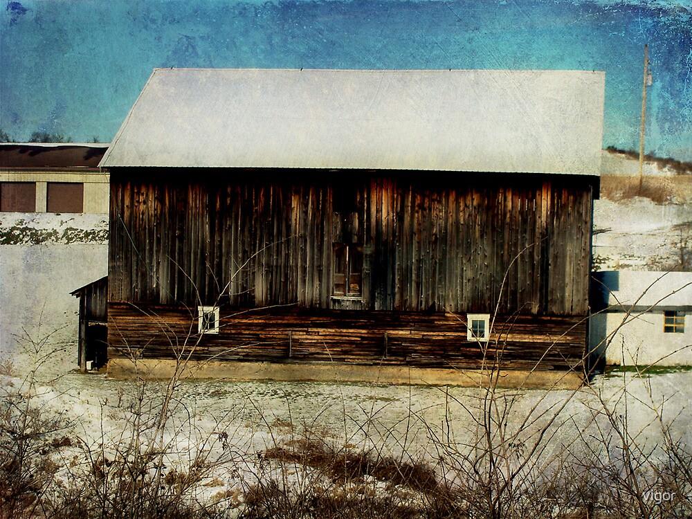 Barn along the way by vigor
