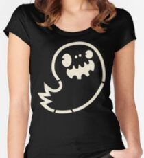 Ghost Boy Stencil Women's Fitted Scoop T-Shirt