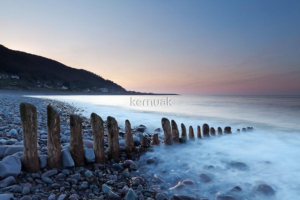 Porlock Groyne Sunset by kernuak