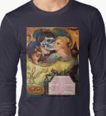 Embracing Death (Vintage Halloween Card) T-Shirt