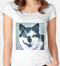 Smoky Cat Women's Fitted Scoop T-Shirt