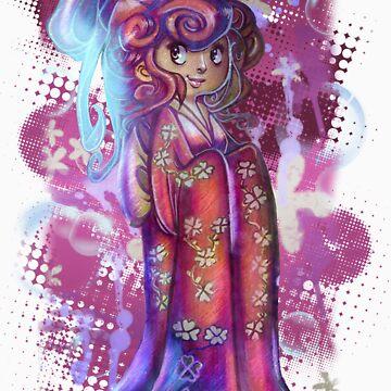 Clover Geisha T-shirt von SaradaBoru